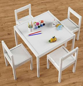 Childrens Wood Table And Chairs - table and 4 chairs set white wood wooden children s