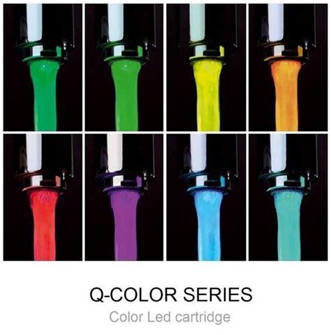 rubinetti a led miscelatore per lavabo a led senza scarico q color