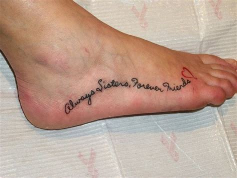 small sister quotes for tattoos quot always forever friends quot tattoos