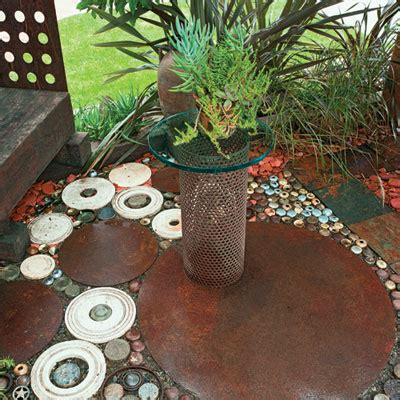 L From Waste Material by Doorknob Patio Flooring Salvage Makeovers Sunset