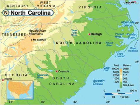 carolina mountains map map of greensboro carolina holidaymapq