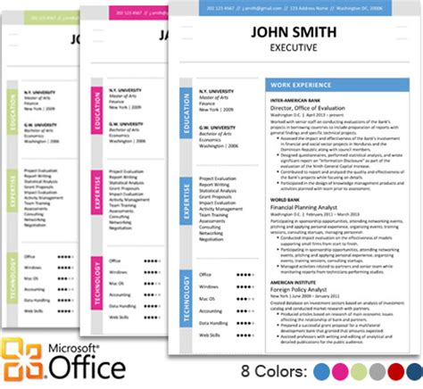 Executive Resume Template Word executive resume template trendy resumes