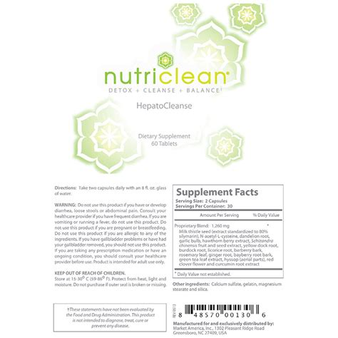 Nutriclean Detox Recipes nutriclean 174 hepatocleanse liver support formula tlsslim
