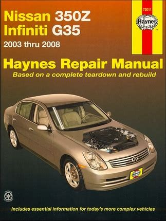 best auto repair manual 2003 nissan 350z spare parts catalogs nissan 350z infiniti g35 repair manual 2003 2008 haynes 72011