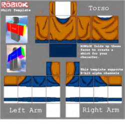 goku real color shirt template roblox