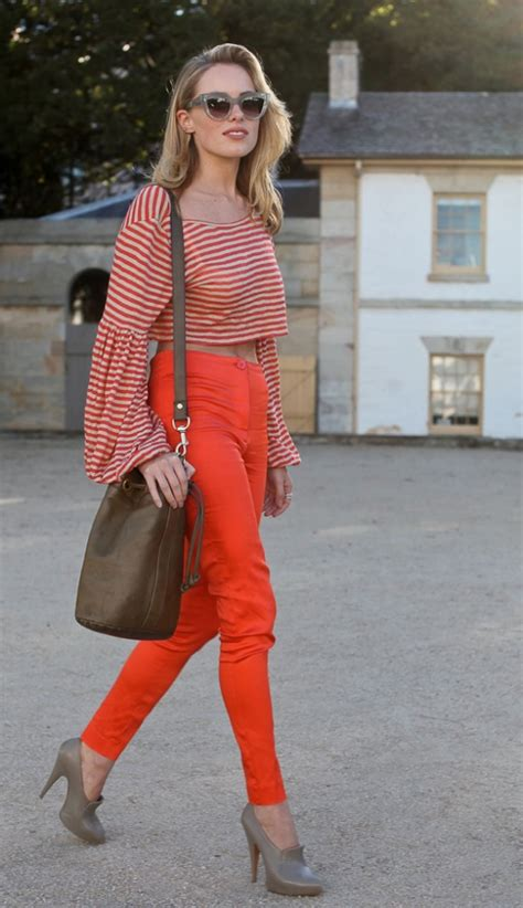 Found Kate Olsens Steven Alan Flannel Ruffle Shirt by Go Big 7 Stylish Ways To Wear A Crop Top Like An
