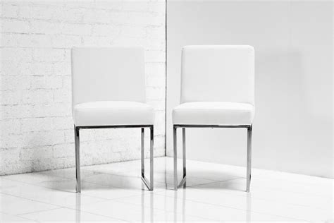 White Leather Dining Chair Www Roomservicestore 007 Dining Chair In White Leather