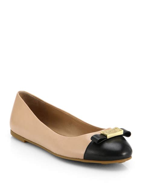 marc by marc flat shoes marc by marc tuxedo bicolor leather ballet flats in