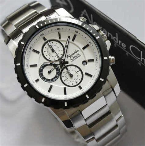 Jam Pria Alexandre Christie 8456 Silver Plat Hitam Original jam tangan alexandre christie ac 6141 rantai silver untuk pria