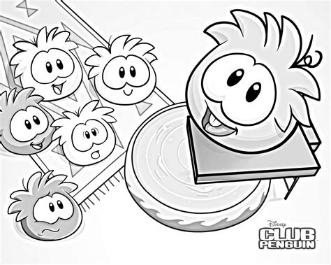 free coloring pages of penguin puffle