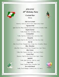 dinner menu for adults photo store birthday menus