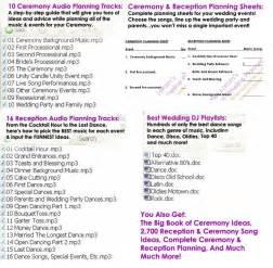 Wedding Reception Planner by Wedding Ceremony Reception Timeline Wedding Ideas