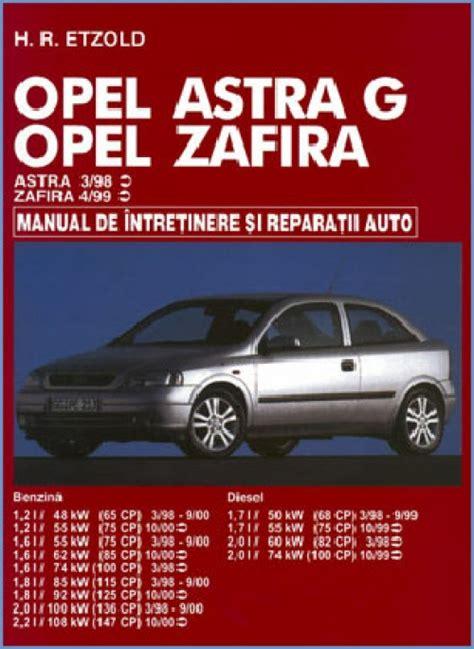 Manual Auto Opel Astra G Zafira