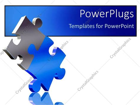 Powerpoint Template Two Pieces Of Puzzle Come Together As A Solution Metaphor On A White Puzzle Pieces Template For Powerpoint