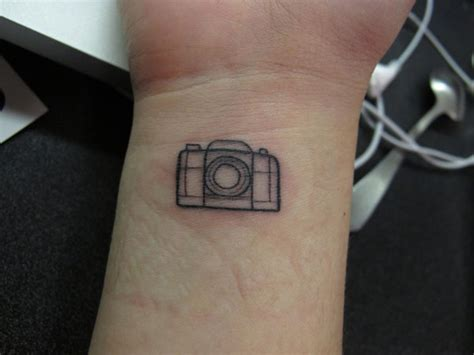 small camera tattoos amazing small outline on wrist tattooshunt