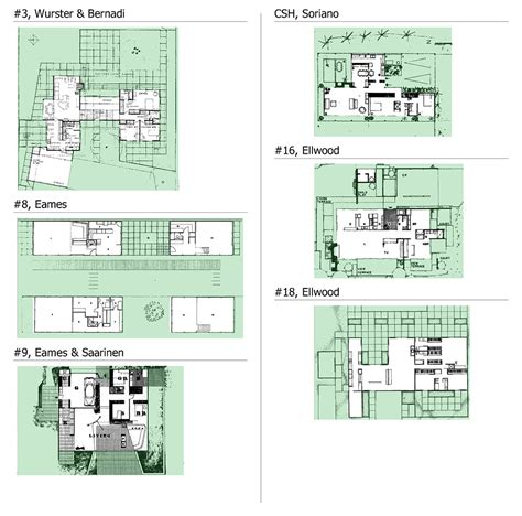 case study houses floor plans janvier 2011 archigraphie