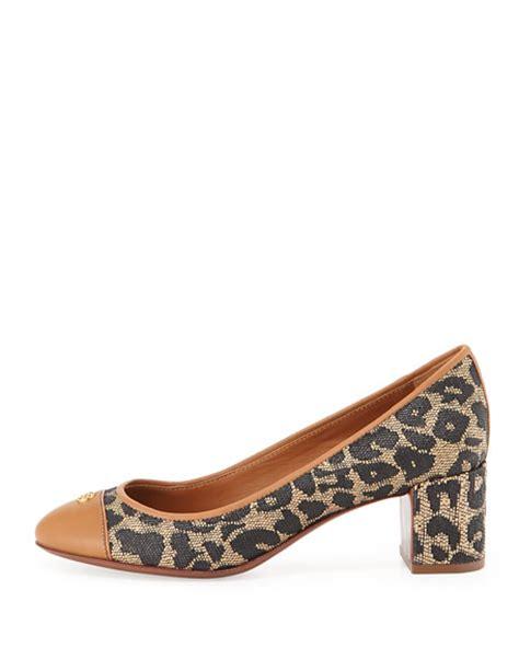 2910 P Haigh Heel 05 Nm burch ethel leopard print mid heel