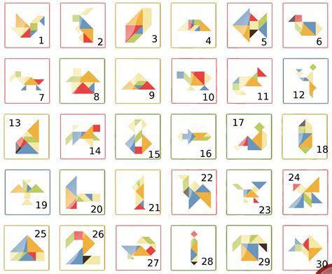 Tangram Modèles Et Solutions