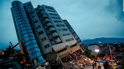 Taiwan Search Search For Missing In Taiwan After Earthquake Topples Buildings Cnn