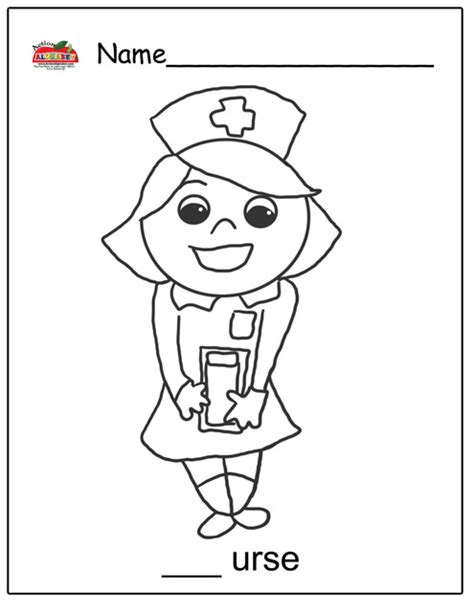 preschool coloring pages nurse letter n activities preschool lesson plans