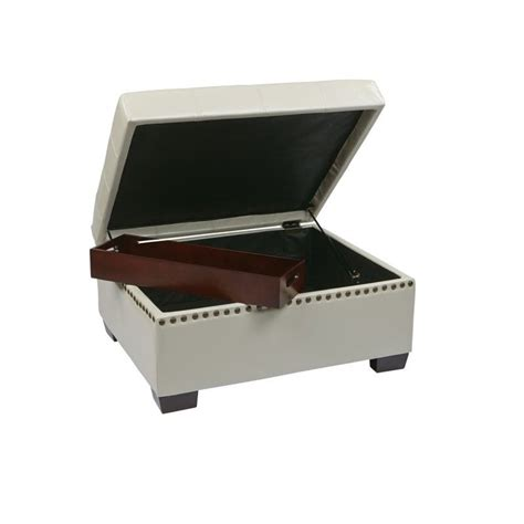 leather ottoman with storage and tray leather storage ottoman with tray storage ottoman with