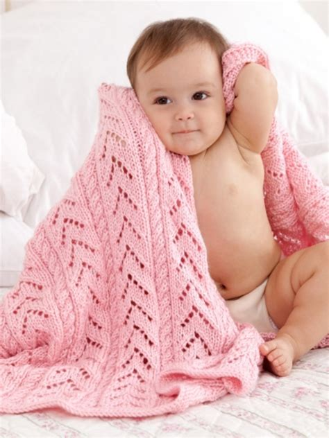 knit baby blanket pattern sport weight yarn pink baby blanket in caron simply soft