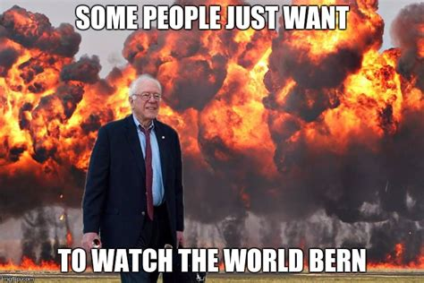 Fire Meme - bernie leaves the race imgflip