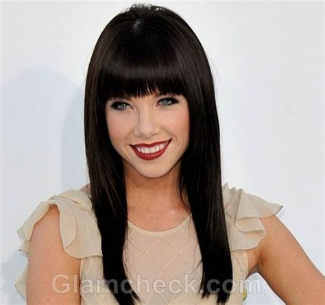 carly rae jepsen hairstyle back celebrity bangs hairstyle gallery