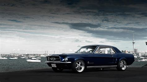 mustang classic blue classic mustang desktop background hd 1920x1200