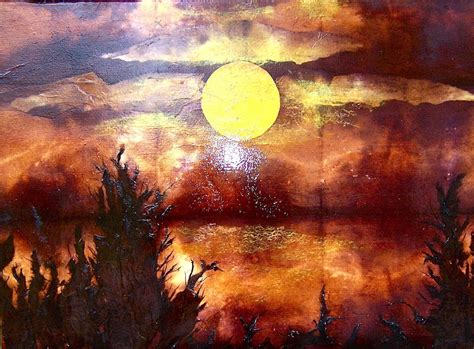 acrylic painting newspaper bayou moon painting with paper