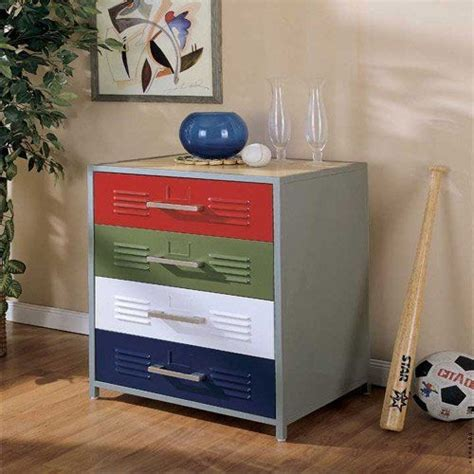 locker bedroom furniture powell locker room style 4 drawer dresser devon