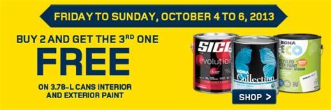 rona buy 2 cans of paint get the 3rd one free canadian freebies coupons deals bargains
