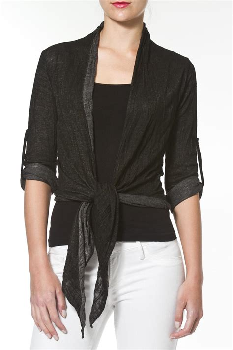 Tie Front Cardigan madonna co tie front cardigan from east side by