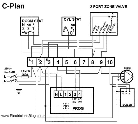 honeywell central heating wiring diagram to boiler