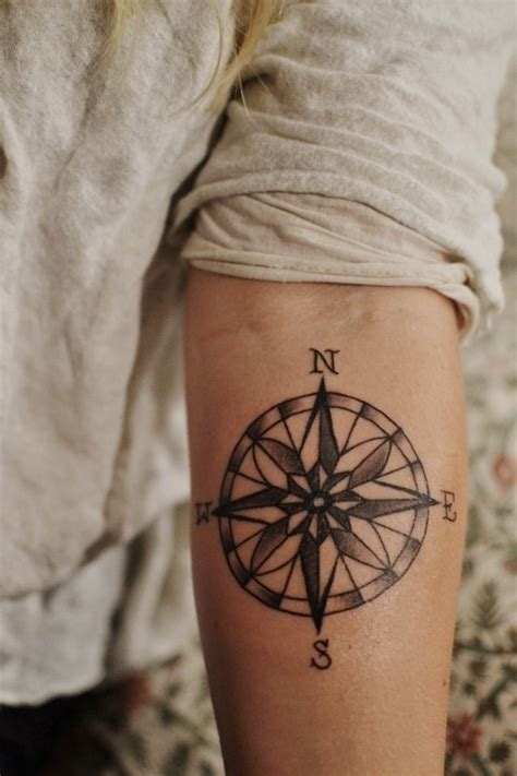 compass tattoo on elbow compass tattoo on the inside of the elbow fart