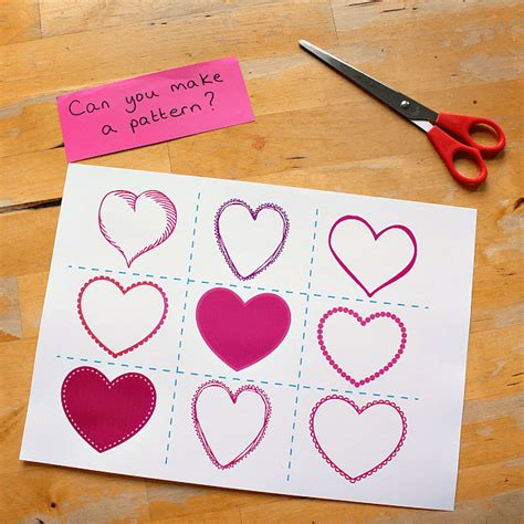 pattern matching cards valentine pattern matching cards free printable