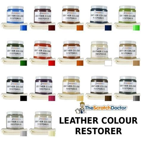 Leather Dye Colour Restorer For Faded And Worn Leather Leather Sofa Colour Repair