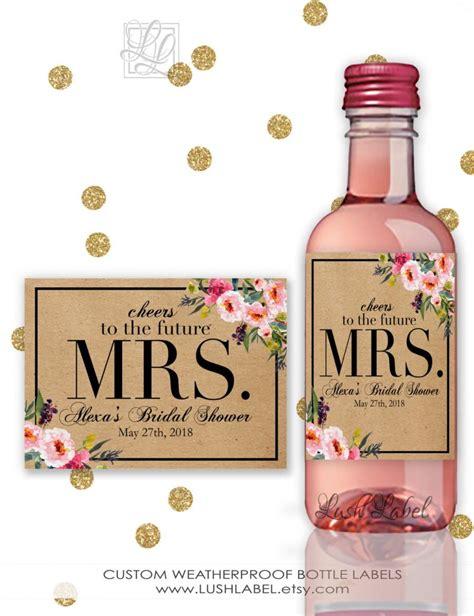 bridal shower wine chagne mini bottle labels unique - Wine Bottle Labels Bridal Shower Gift 2
