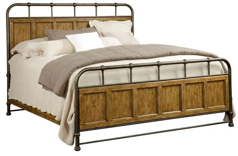 wood and metal bed new vintage brown cal king metal wood bedstead bed from