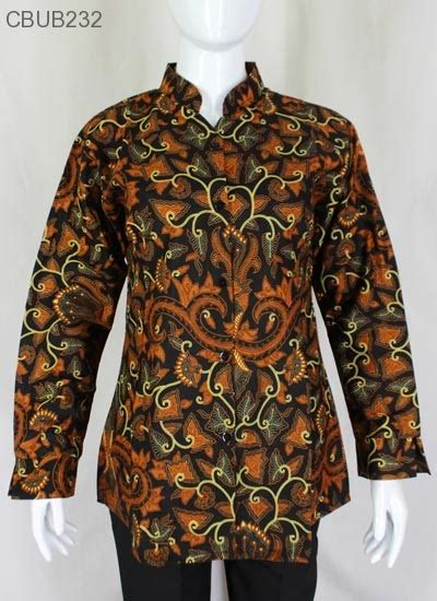 6 Baju Lengan Panjang Katun atasan katun motif pisang bali blus lengan panjang murah