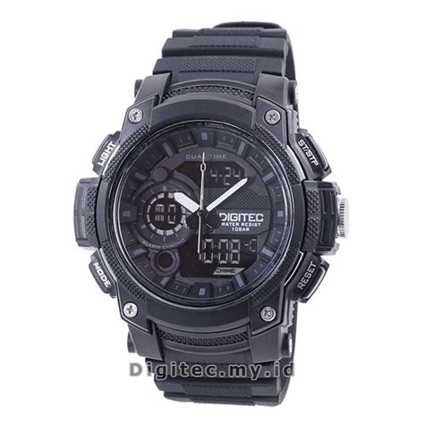 Jam Tangan Pria Digitec Time Original Hijau Water Resist digitec dg 3028t black jam tangan sport anti air murah