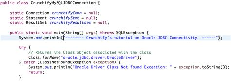 oracle tutorial for java simple oracle database jdbc connect and executequery