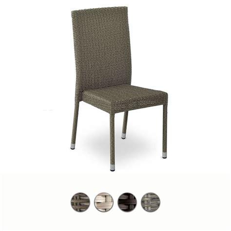 sedia da ceggio sedia da giardino in wicker vari colori by