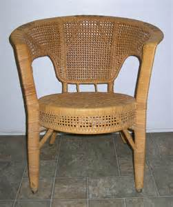 Vintage wicker arm chair by lavintagefurnishings on etsy