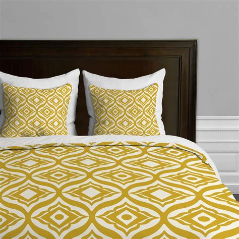 bettdecke farbig mustard yellow comforters and bedding sets