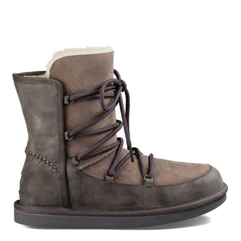 womens grey leather lodge boots brandalley