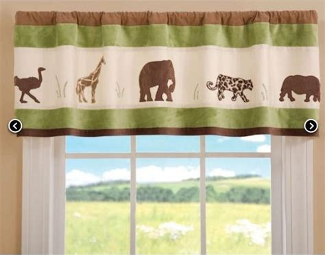 Jungle Nursery Curtains Images Nursery Valance Curtains