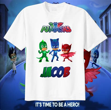 T Shirt Original Cat And Card Maxcyber pj masks custom t shirt personalize tshirt birthday gift