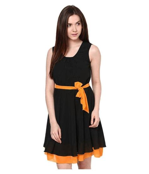 Goldie Black buy goldy shoppers black georgette dresses at best