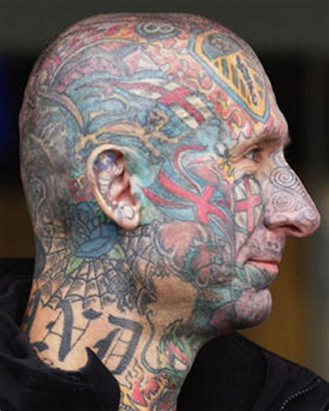 leeds united tattoo man patriotism goes to england fan s head daily star